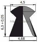 Пули пневматические Шмель 4,5 мм 0,58 гр (500 шт.) 2