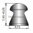 Пули пневматические Шмель 4,5 мм 0,8 гр (400 шт.) 2