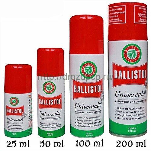 Универсальное оружейное масло ballistol удаляет отвердения и налёты свинца, меди и томпака со
