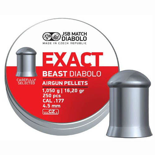 Пули JSB  «EXACT BEAST DIABOLO» 1,05 гр. 4,52мм 250шт