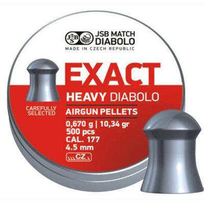 Пули JSB  «EXACT HEAVY DIABOLO» 0,670гр. 4,52мм 500шт