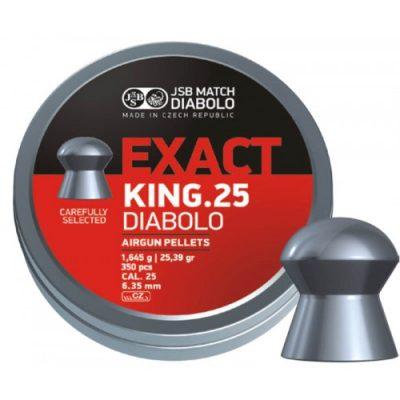 Пули JSB  «EXACT KING.25 DIABOLO» 1.645гр. 6,35мм.  350шт
