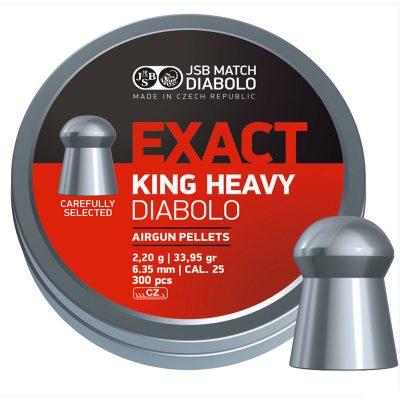 Пули JSB  «EXACT KING HEAVY.25 DIABOLO» 2.20гр. 6,35мм.  300шт