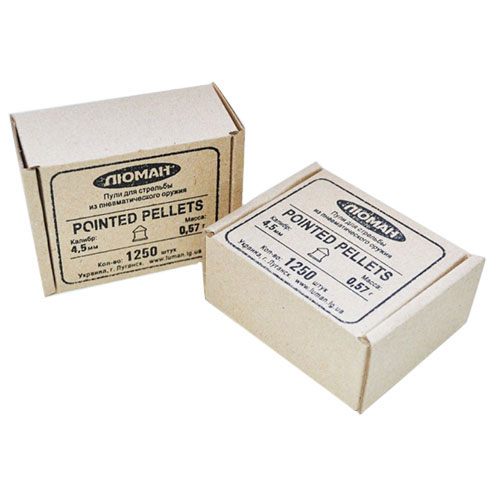 Пули «Люман» Domed pellets, 0,57 г. по 1250 шт.