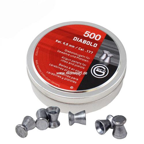Пули RWS «DIABOLO GECO», 4.5 мм, 0,45гр. 500шт.,   (плоские)