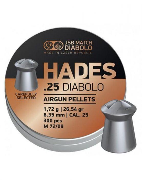 Пули JSB DIABOLO HADES 1,72 гр. 6,35мм 300шт