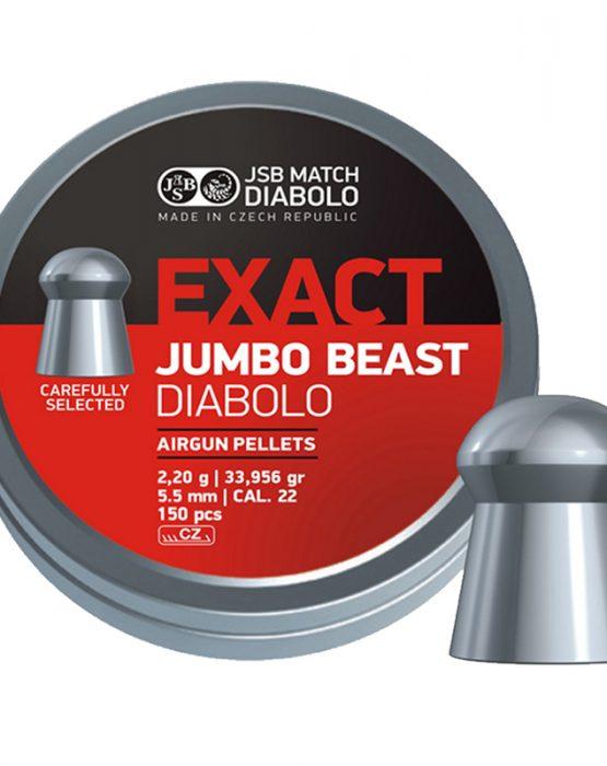 Пули JSB  «EXACT JUMBO BEAST DIABOLO» 2,2 гр. 5,52мм 150шт