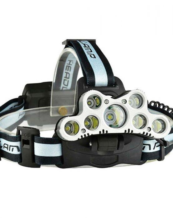 Аккумуляторный налобный фонарь 7*T6+2*XPE  LED 12000LM (FL2501)
