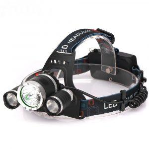 Аккумуляторный налобный фонарь T6+2*XPE  LED 1000LM (FL2303)