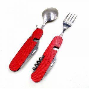 Набор складной вилка, ложка, нож (6в1) купить