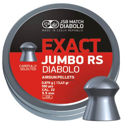 Пули JSB  «EXACT JUMBO RS DIABOLO» 0,870г. 5,52мм.  500шт