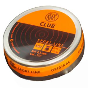 Пули RWS «CLUB» 4.5 мм, 0,45гр., 500шт.  (плоские)