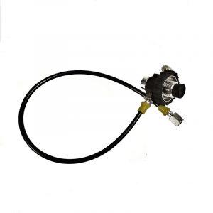 Заправочная станция DROZD c манометром, поворотная гайка(резина) (G1/8) купить