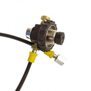 Заправочная станция DROZD c манометром, поворотная гайка(резина) (G1/8)
